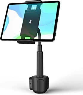 AHK Cup Holder Tablet Mount, Tablet Car Cradle Holder Compatible for iPad Pro/Air 2019/Mini iPad 9.7 Samsung Galaxy Tab S5e S4 S3 LG tab Micro Soft Surface Go Pro 6 Google Pixel Slate