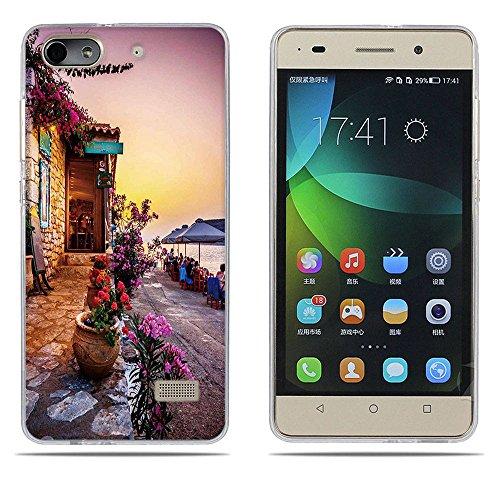 DIKAS Handyhülle für Huawei Honor 4C, Hülle für Huawei G Play Mini, TPU Softcase Silikon Tasche Anti-Scratch Handy-Kasten Handyhülle Handycover für Huawei Honor 4C / für Huawei G Play Mini- Pic: 01