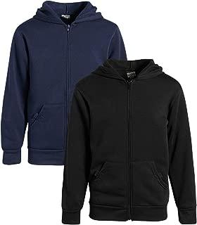 Boys Fleece Full Zip Hooded Sweatshirt (2 Pack)