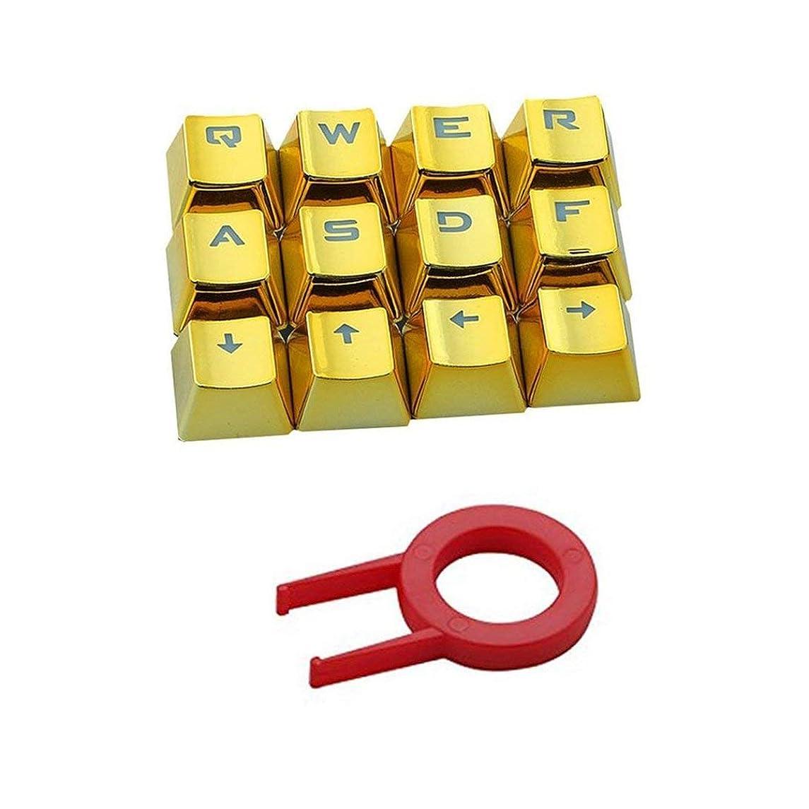 コンチネンタル発音聴覚障害者Swiftgood メカニカルキーボード用キープーラー付き12 Translucidusバックライトキーキャップ耐摩耗性電気めっきキーキャップ