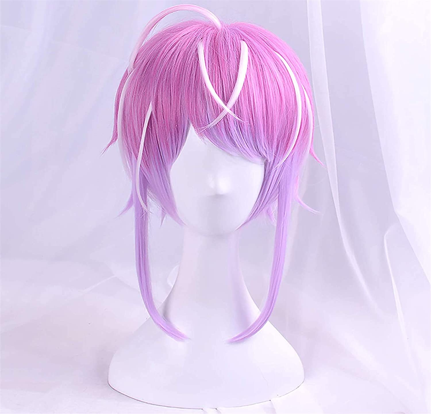 LCNING Wig Max 89% OFF Wigs Pink Cosplay Anime for with Choice Fring Men Women