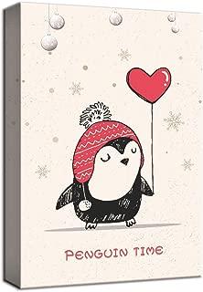 penguin canvas painting