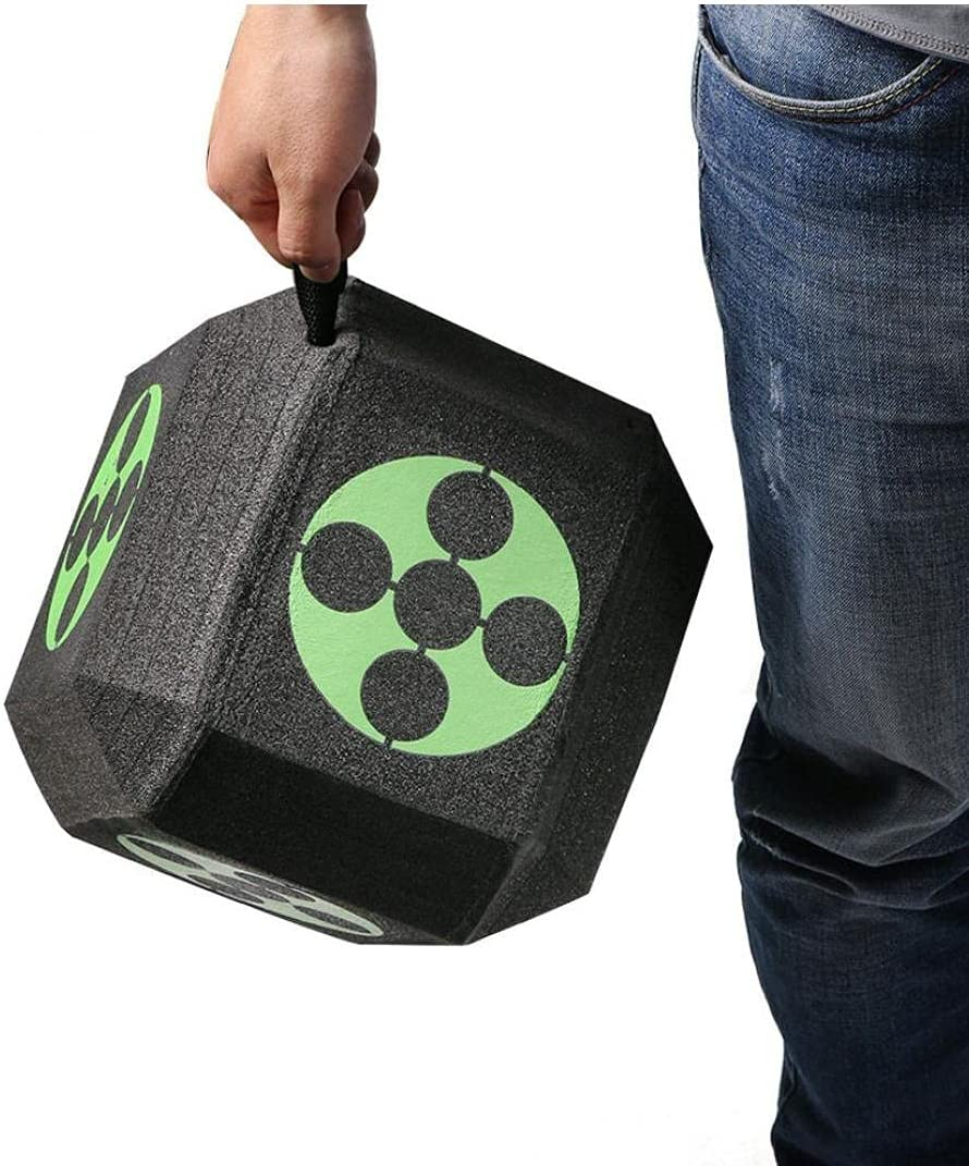 Hainice Training Target Square 3D Target Cube 6-Sided Foam Arrow