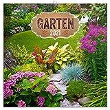 Garten Wandkalender 2021 Kalender, Broschürenkalender mit Monatskalendarium, Broschurkalender Naturkalender 30 x 30 cm (30x60 Geöffnet)