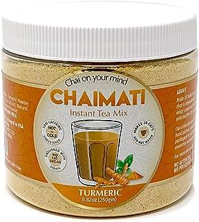 El orgullo de la India Oro Chai Latte Leche en polvo de cúrcuma instantánea w / jengibre, la canela, la stevia y pimienta