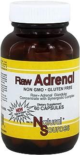 Natural Sources, Raw Adrenal, 60 Capsules