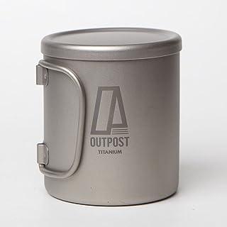 キャンプ食器 チタン ダブルウォール マグカップ 蓋付き Outpost Titanium [MH122] PETITE D.W MUG/T.LID