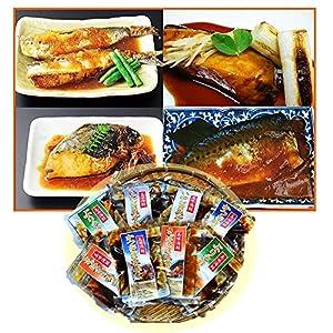 「三陸グルメ」国産・煮魚のお惣菜8Pセット  湯煎・レンジ対応。手軽で簡単おいしい煮魚セットです。【お中元・ご贈答・ご自宅用・お誕生日プレゼントにも!配送指定OK!】