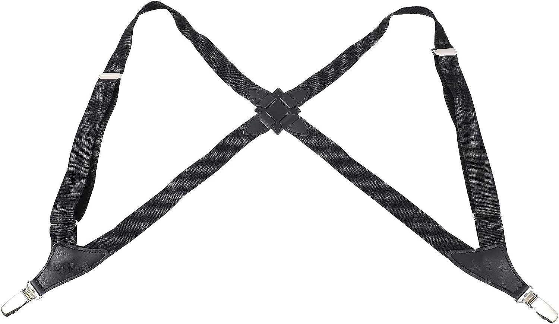 LUOZZY Clip on Suspenders for Women Adjustable Trouser Straps for Mens Suspenders for Trousers with Clips(Black)
