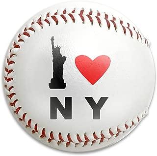 I Love NY ファイアKOSHI 軟式野球 野球練習ボール ホワイト 公認球 練習用 子供用 初心者 親子