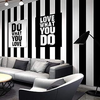 db463c4b4e1 Papel pintado a rayas blanco negro decoración moderna sala de estar  cafetería restaurante tienda de ropa