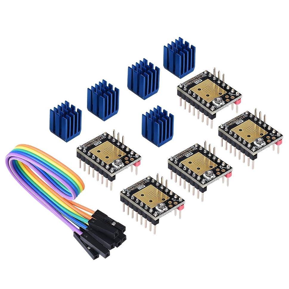 忍耐誠意マーガレットミッチェルTOOGOO 3Dプリンターパーツ ステップスティック ミュートTmc2208 V3.0ステッピングモータードライバー ヒートシンク付き Skr V1.3 Mks Gen L Ramps 1.4/1.5/1.6 3Dプリンター用 コントロールボード(5個入り)((Uartモード)