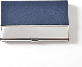 名刺入れ メンズ ビジネス PUレザー ステンレス シンプル シルバー カードケース