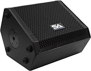 Seismic Audio - SAX-10M - Compact 10 Inch 2-Way Coaxial Floor/Stage Monitor with Titanium Horn - 200 Watts RMS - PA/DJ Sta...