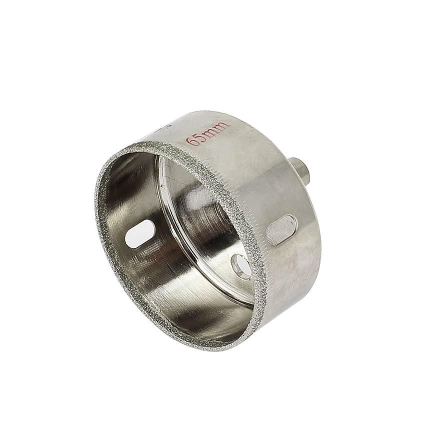 消費者知覚ボックスuxcell ダイヤモンドガラスホールソー 65mmカッティング直径 55mm長さ ドリリング