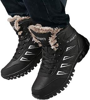 WggWy Gardez Les Raquettes Imperméables pour Hommes Au Chaud Bottes en Coton Épais Surdimensionnées Chaussures Plates Form...