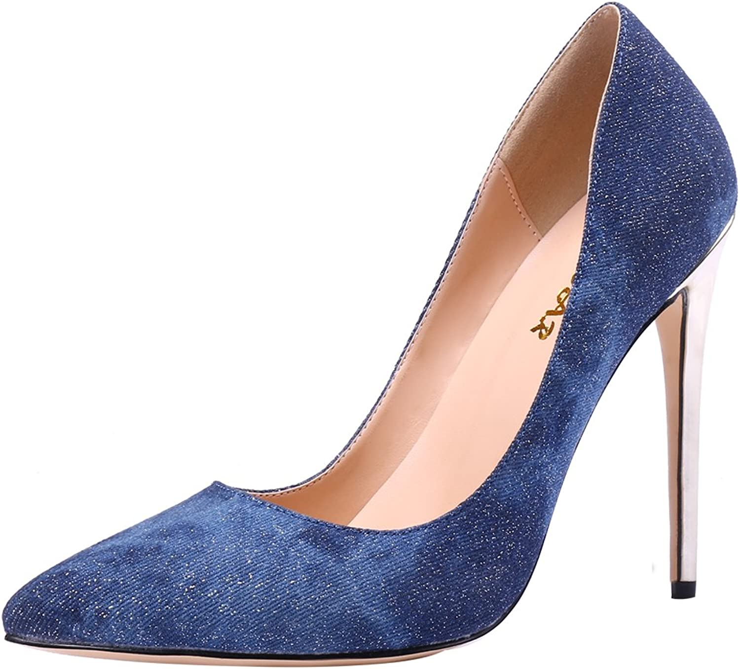 AOOAR Women's Party Stiletto Pumps shoes