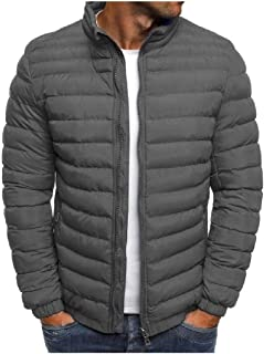 Howely Men's Warm Parka Puffer Coat Loose Winter Coat Cotton Padded Jacket