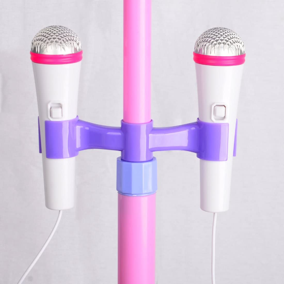 Karaoke Machine Play Set Best Gift for Your Kids on Birthday,Christmas Dittzz Kids Karaoke Microphone with Stand