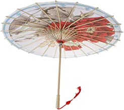 Chinese Japanese Parasol Umbrella Art Decor Painted Wedding Dance Party Props  Color - G 
