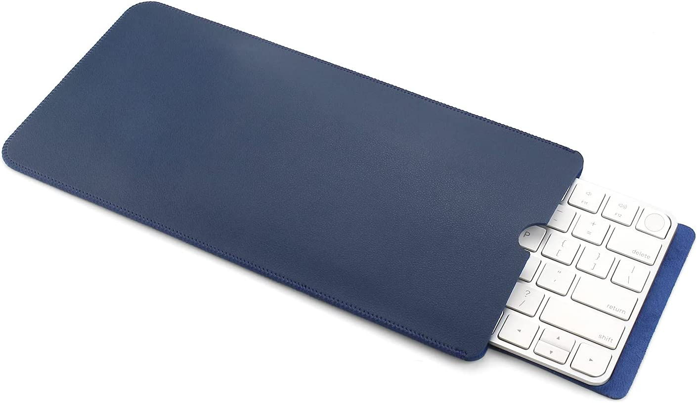 11.7 x 5.9 Inch PU Leather Keyboard Sleeve Case Bag for 2021 Released iMac 24