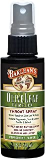Barlean's Organic Oils Olive Leaf Complex Throat Spray, 1.5-Ounces