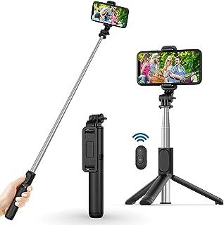 【2021最新版】 自撮り棒 ライト付き 自撮り補光 Bluetooth セルカ棒 軽量 無線 三脚/一脚兼用 リモコン 多機能 折りたたみ 持ち運び便利 iPhone/Android等スマホ対応 YouTube生放送 ビデオカメラ撮影用