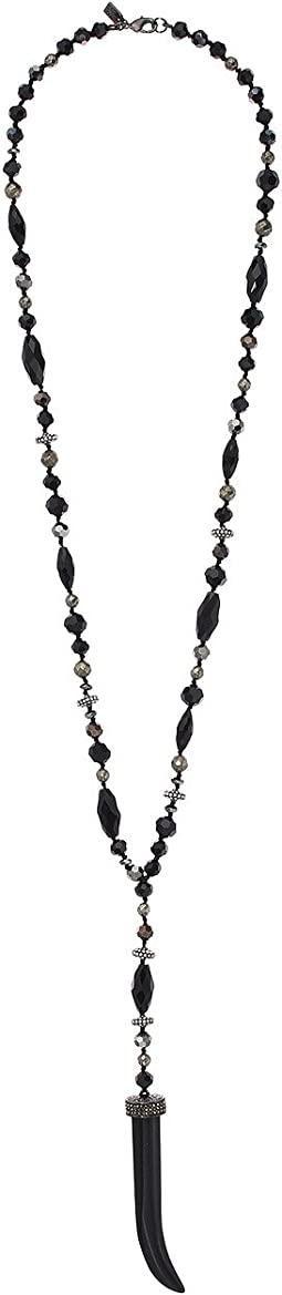 "LAUREN Ralph Lauren 30"" Pyrite Beaded Y Necklace"
