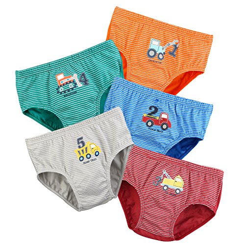 BOOPH Little Boys Toddlers Cotton Underwear Briefs Car 2-3 Years Multicolor