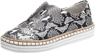 Women's Platform Sneaker Snakes Print Slip on Round Toe Dress Casual Walking Comfort Flat Boat Shoes