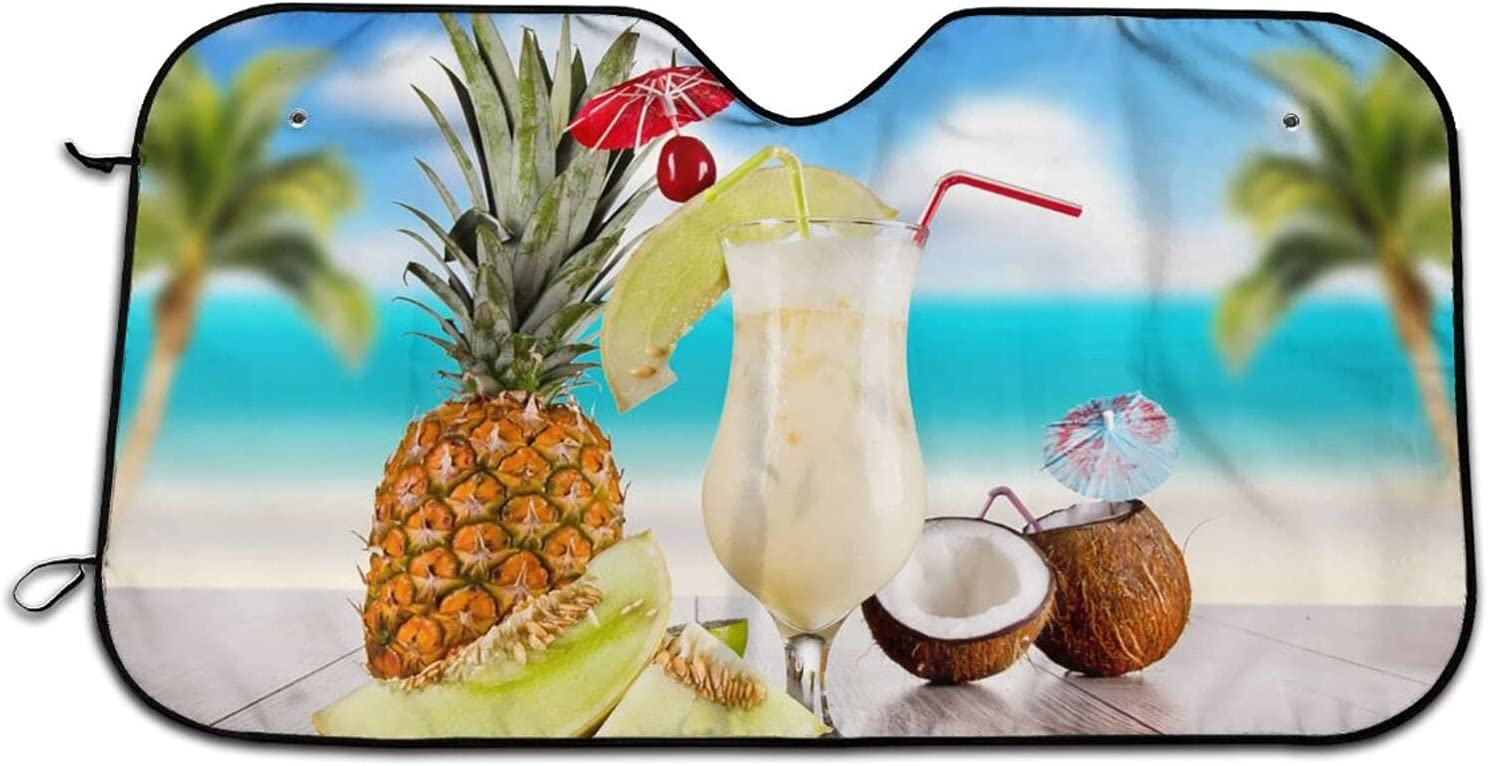 Shipping included Beach and Pineapple Car Windshield Sun gift Curtains Blocks Shade Uv
