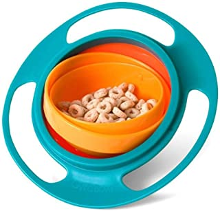 360 Rotate Gyro Bowl – Non Spill Rotating Bowl For Baby Feeding Without Mess