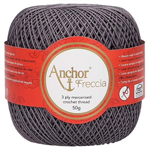 Anchor Freccia Stärke 12 4771012-00400 schwarz Häkelgarn, 100 % Baumwolle