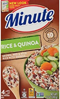 Minute Brown Red Wild Quinoa Multi-Grain Medley Rice, 3 oz Bags, 4 Count (3 Pack)