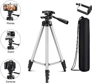 Mossto Adjustable Aluminium Alloy Tripod Stand Holder for Mobile Phones & Camera, 360 mm -1050 mm, 1/4 inch Screw + Mobile Holder Bracket