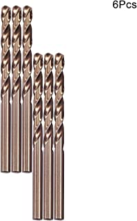 Utoolmart 4.5mm Drilling Dia Straight Round Shank Total Length 75mm High Speed M35 HSS Cobalt Spiral Flute Drilling Chamage Color Twist Drill Bit Rotory Tool 2pcs