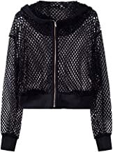 NANTE Top Loose Women's Blouse Long Sleeve Sport Mesh Hooded Pocket Coat Outwear Overcoat Womens Tops Clothes Clothing