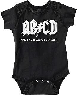 ABCD Alphabet Cute Funny Newborn Rocker Romper Bodysuit