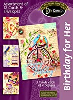 Divinity Boutique 186316 Boxed Cards-Birthday for Her
