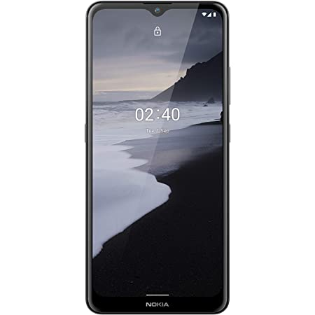Nokia 2.4 | Android 10 | Unlocked Smartphone | 2-Day Battery | Dual SIM | US Version | 2/32GB | 6.5-Inch Screen | Charcoal