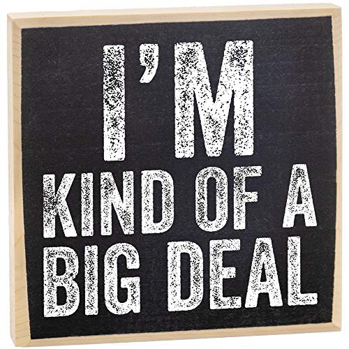 I'm Kind of a Big Deal - Rustic Wooden Sign - Makes a Great Gift and Office Decor Under $15!