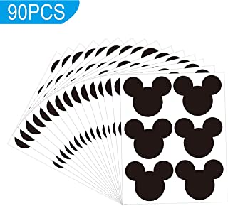 Mickey Mouse Stickers 2.97 x 2.5 Inch Vinyl Mouse Ear Chalkboard Labels - 90 Pack