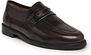 NOBLE CURVE Leather Loafers Shoes