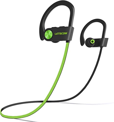 LETSCOM Bluetooth Headphones IPX7 Waterproof, Wireless Sport Earphones Bluetooth 4.1, HiFi Bass Stereo Sweatproof Ear...