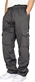 Briskorry Men's Pyjama Bottoms Long Pyjama Bottoms Checked Sleep Pants with Elastic Waist Casual Trousers for Men