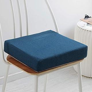 NMDCDH Cojín de sofá para Silla de jardín Cojín de Asiento ultragrueso para Uso en Interiores y Exteriores -Funda lavable-40/45 / 50cm-Cojín de Asiento de jardín elevador-Azul-50x50x8cm