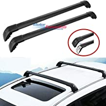 MotorFansClub Top Rail Roof Rack Cross Bars Crossbars for Audi Q7 2006-2016 US Shipment Luggage Carrier Lockable (Cargo Rack)