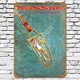 1962 Nassau Bahamas Travel Poster Blechschild Metall Plakat