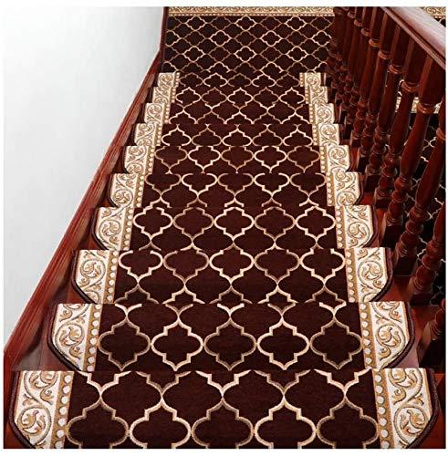 GWFVA Escalera - Tapetes de Alfombra 10 Piezas semicirculares (65x24cm) Alfombras de Corredor Alfombras/Almohadillas de Escalera Autoadhesivas Antideslizantes lavab