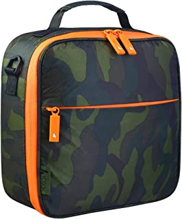 KOSOX 2019 New Oxford Square Unisex Lunch Tote Waterproof Zip Thermal Insulated Lunch Bag Picnic Cooler Bag with Shoulder Strap (New Camo)